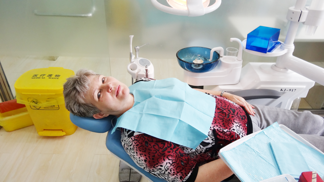 протезирование зубов на 4 имплантах. Фото